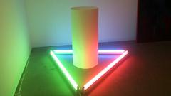 DSC_1800 (dannyjohnryder) Tags: blue light red color colour green art paper projection fluorescent rgb lightart lightsculpture colorart colourart dannyryder