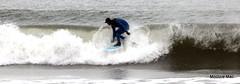 Blue Surfer (mootzie) Tags: blue beach waves surfer surfing aberdeen surfboard balance wetsuit splashing