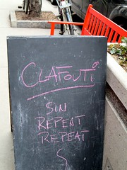 Sin (Georgie_grrl) Tags: toronto ontario cafe funny humour sin queenstreetwest chalkboard repent repeat clafouti canonpowershotelph330hs thenewdarkpinkside