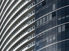 Architecture #27 (Ximo Michavila) Tags: city blue windows urban abstract building geometric glass lines architecture graphic curves perspective australia melbourne diagonal balconies archidose archdaily archiref ximomichavila vision:mou