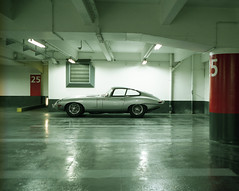 Encounter of the E-type (Philippe Yong) Tags: 120 mamiya film analog mediumformat fuji parking rangefinder analogue 6x7 80mm jaguaretype mamiya7ii pro400h 7ii philippeyong wwwpyphotographyfr