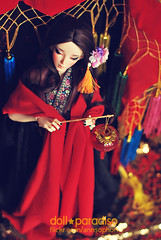 | Red Peony (= ann =) Tags: china red doll chinese peony bjd lantern oriental superdollfie ethnic fairyland feeple65 chloeelf