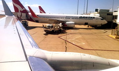 Qantas New and Shiny B737-800 (chuck92000) Tags: window tarmac mood view australia melbourne next lightning generation winglets b737800
