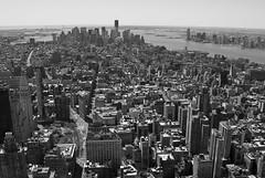 NY skyline (tim jg photography) Tags: city usa ny newyork streets skyline landscape skyscrapers aerialview highrise empirestatebuilding empirestate below statueofliberty groundzero uphigh highview inthesky viewfromempirestatebuilding lookiingdown groundzerounderconstruction