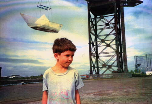 Ben with George Wyllie's Paper Boat 1990