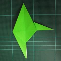 วิธีพับกระดาษเป็นจรวด X-WING สตาร์วอร์ (Origami X-WING) 024