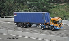 Scania P400 , Huationg Inland Transport Service (Waverly Fan) Tags: port truck gateway psa inter haulage huationg