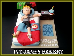 BOYS BEDROOM (Ivy Jane's Bakery) Tags: birthday boys cake student bed bedroom 18th