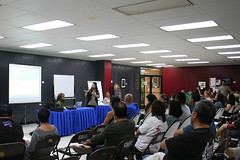 Therese Arriola Presenting at FestPac Workshop, 2014