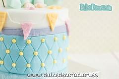 Tarta bautizo / nacimiento (Dulce decoracin (modelado - tartas decoradas)) Tags: cake de infantil sentado bebe nio toppers nacimiento tarta bautizo fondant