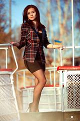 marine (anna_poprotskaya) Tags: morning blue light sea summer sky sun sunlight cute nature girl beautiful smile clouds canon hair seaside spring nice marine ship legs yacht style ukraine jacket fabulous ukrainian canonmark2 ukrainiangirl poprotskayaphoto