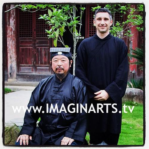 Avec le grand maître Yao de #wudang #taichi #china #enterremartiale #lionelfroidure