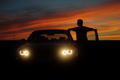 Angel Eyed Sunset (corsair.2014) Tags: sunset sun beautiful car angel sunrise canon eyes muscle sony garage jesus creation bmw mustang gt alpha 50 a7 horsepower stang 328i 70d a65 335i flickrandroidapp:filter=none