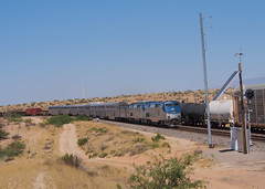 Sibyl, Arizona May 2 - 4 (Clay Gilliland) Tags: railroad arizona mountains scenery desert pacific diesel sub trains southern amtrak unionpacific locomotive sonorandesert generalelectric southernpacific passengertrain lordsburg superliner p42 cochisecounty sunsetlimited