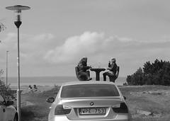 On top of the world (Ken-Zan) Tags: bw car 22 pair bmw rast paus par vttern kenzan