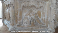 2012 Jul 15 Salle 15c 7-Sacrament font, Penance (dalevreed) Tags: lowcontrast infocus highquality england2012