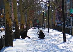 Allen Street Mall (elbrozzie) Tags: nyc newyorkcity manhattan lowereastside snowfall allenstreetmall