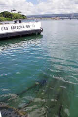 USS Arizona Memorial (sarowen) Tags: water hawaii memorial oahu oil pearlharbor oilslick ussarizona honoluluhi ussarizonamemorial honoluluhawaii wwiivalorinthepacificnationalmonument