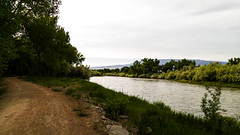 The Gunnison River in the evening (CAJC: in the Rockies) Tags: deltaco lightroom ipiccy sonyrx100m2 gunnisonriverco confluenceparkdeltaco