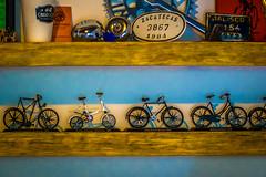Inside a bike shop in Oaxaca.