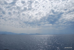 cloud skies (venetia koussia) Tags: flowers seagulls spring greece monastery bluesea oinousses aegeanislands smallports