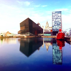 A Day in the Life (robertgbannister) Tags: liverpool iphone architecture water reflection