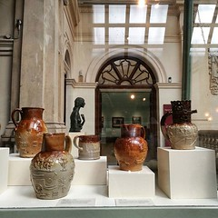 Lovely jugs. All late C18th and... (jules hynam) Tags: museum bristol stoneware uploaded:by=flickstagram instagram:venue=182537 instagram:photo=125658065183275738232916970 instagram:venuename=bristolmuseum26artgallery