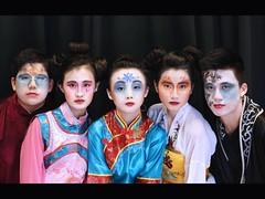 Mulan's Ancestors (Karen Carmen) Tags: china students hongkong costume theatre makeup ancestors drama mulan