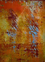 Abstract (StephenReed) Tags: abstract art abstractart vertical rust paint chippedpaint metal stephenreed raw nikond80 rustart