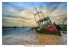 Retired And Lovin' It (Phil Durkin) Tags: old uk sea england clouds boats boat spring decay tide estuary daytime merseyside heswall thewirral mudbanks