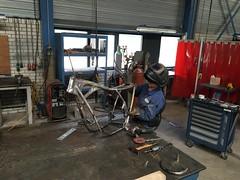 IMG_0406 (digyourownhole) Tags: vintage honda motorcycle restoration caferacer cb550 bratt buildnotbought