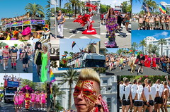 Maspalomas Gay Pride 2016... (Leo ) Tags: gay party color grancanaria collage fun fiesta joy pride lgbt bandera diversin cabalgata islascanarias alegra maspalomas orgullo carrozas playadelingls
