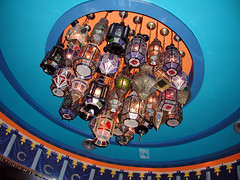 Tizi Melloul ceiling circa 2002 (swanksalot) Tags: 2002 chicago lights ceiling moroccan olympusdigitalcamera tizimelloul