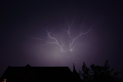 thunderstorm (MR-Fotografie) Tags: thunderstorm thunder gewitter blitz lightning licht dunkel dark hell mystisch mystic house haus nikon d7100 tokina 1228mm mrfotografie hallesaale explore
