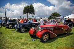 La Jolla Concours d'Elegance - Bugatti Type 57 Aravis - 1937 (Psycho Nico) Tags: california car clouds canon curves 5d bugatti 1937 elegance lagonda aravis