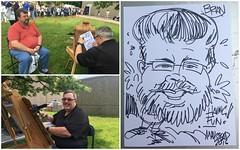Caricature from UK Staff Appreciation day (fozbaca) Tags: uk kentucky brian caricature universityofkentucky ukstaffappreciationday