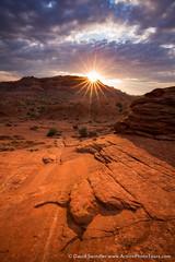 Sunburst on the Trail (David Swindler (ActionPhotoTours.com)) Tags: arizona sunrise sunburst sunstar coyotebuttes vermillioncliffs coyotebuttesnorth