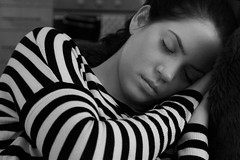 Black and white portrait of Lysette by Frances Dyer (francesdyer333) Tags: bw girl sleep asleep