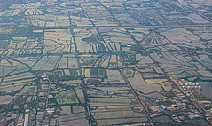 Bangkok Fields (Andy.Gocher) Tags: sun reflection water canon thailand asia outdoor bangkok sigma aerial fields aeroplanewindow 18250 100d aeroplaneseat andygocher