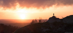 On Some Adventure (Erik Johnson Photography) Tags: park sunset portrait dog sun mountains clouds self gold midwest nebraska labrador state prairie chadron