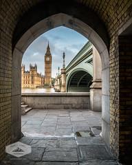 Morning view of Big Ben (jkuphotos) Tags: uk bridge england london clock westminster thames architecture river arch unitedkingdom parliament bigben jamesudall