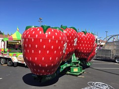 Strawberry Fields (misterbigidea) Tags: carnival red summer urban hot fruit landscape fun amusement strawberry ride parking strawberries americana stockton carny strawberryfieldsforever