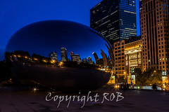 Chicago-2088.jpg (CitizenOfSeoul) Tags: city blue usa chicago night downtown indiana northamerica cloudgate mirroring