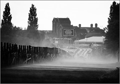Mist-Guided Busway, Leigh (Pitheadgear) Tags: blackandwhite bw mist monochrome mono grainy leigh humid guidedbusway