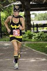Bat Girl # 116 (psbell2) Tags: woman black mask running cape batgirl naperville triathlon batwoman blackandyellow gildanespritdeshe napervillegildanespritdeshe