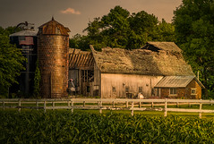 Morning Doesn't Help (henryhintermeister) Tags: summer minnesota clouds rural outdoors farming barns sunsets oldbarns nostalgia farms pastoral mankato countryliving rainstorms