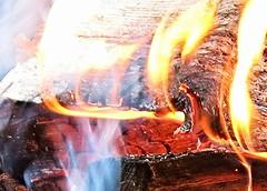 don't play with fire - HMM! (karma (Karen)) Tags: wood fire smoke maryland hmm hotorcold macromondays garrettco mdstateparks herringtonmanorsp