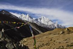 Prayer flag (Adept Photography) Tags: nepal stupa monastery nepalese yaks everest himalayas 2016 tengboche stupas