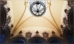 Culture Palace ,Iai, ceiling of the main entrance hall (T.S.Photo (Teodor Sirbu)) Tags: architecture arches art iai romania hall palace culture palatul culturii neogothic gothic