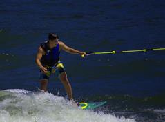 Surfboard Water Skiing (swong95765) Tags: man ski guy water sport river fun surf skiing surfboard balance recreation tethered